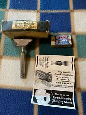 Vintage Ever Ready Safety Razor Clean! Silver  Tone