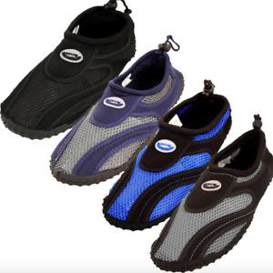 Mens Water Shoes Aqua Socks Slip On Mesh Pool Beach Swim Surf Hike Wet