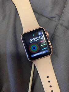 Apple Watch Series 1 38mm Aluminum Case Pink Sand Sport Band Smartwatch -...
