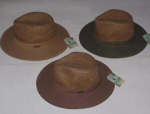 PANAMA JACK DORFMAN PACIFIC Toyo Cotton Unisex SAFARI HAT Khaki Olive Brown NEW