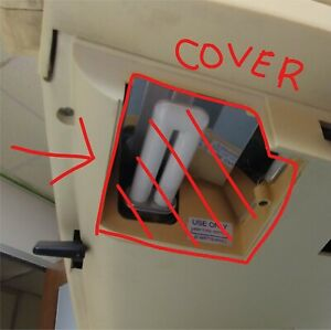 Telesensory B/W Aladdin Ultra Pro Vision Magnifier Bottom Light Cover Piece Used