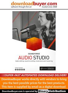 MAGIX Sound Forge Audio Studio 15 - [Download]