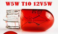 2x Bombillas De Luz Lateral Rojo T10 W5W 501 bombillas halógenas 5W Coche Dashboard interior