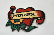 MOTHER MOM MAMA HEART 6cm EMBROIDERED SEW IRON ON CLOTH BADGE PATCH APPLIQUE