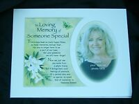 "PHOTO MOUNT FOR 10""x8"" FRAME LOVING MEMORY ANGEL MUM DAD HUSBAND SOMEONE SPECIAL"