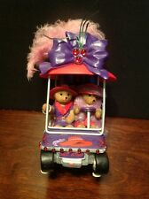 "Limited Edition Hamilton Red Hat Society ""Hot Stuff"" Bear Figurine In Golf Cart"