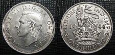 ROYAUME UNI - ONE SHILLING 1944 - GEORGES VI - Argent