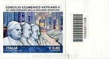 2012 francobollo Concilio Ecumenico Vaticano II SX BARRE 1508