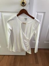 NWOT Guess Long Sleeve Sexy Top Extra Small XS White Gold