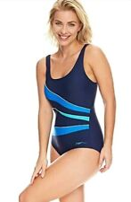 Zoggs Women's Casuarina Scoopback size 20 Swimming Costume / Swimsuit  Navy