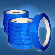 12 Rollen PP-Klebeband, 12 mm,blau f. Beutelschliesser, Klebefilm,Selbsklebeband