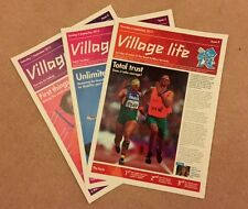 LONDON 2012 - 3 ISSUES GENUINE VILLAGE LIFE NEWSPAPERS PARALYMPIC GAMES *RARE