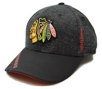 Chicago Blackhawks Reebok M670Z  Playoff Stretch Fit NHL Hockey Cap Hat  L/XL