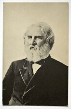 Old antique postcard picture Henry Wadsworth Longfellow American poet Maine