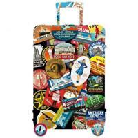 55pcs/Set Vintage Old Fashioned Style Luggage Suitcase Stickers Travel Rand O9F7