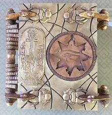 Mummy Amun Ra book of the dead 1:1 Scale Replica W/ Keys & 3 Scarabs