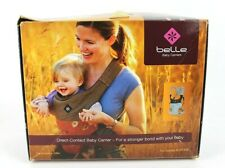 Belle Organic Baby Carrier Sky Detachable Head Support Black Cotton Hemp