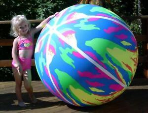 "60"" POOLMASTER Inflatable BEACH BALL Giant VINTAGE SPLASH Vinyl Pool Toy NOS"