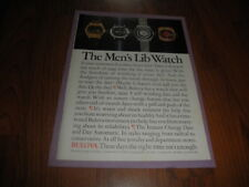 "Vintage BULOVA WATCHES AD-1971-""The Men's Lib Watch"""