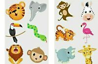 24 x JUNGLE ZOO ANIMAL Temporary Tattoos Kids Girls Party Bag Filler Toy