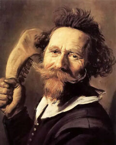 Oil painting frans hals - old man verdonck beard art hand painted canvas
