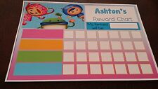 Team Umizoomi- Personalised Reward Chart Potty Training/ Behaviour/ Bedtime EYFS