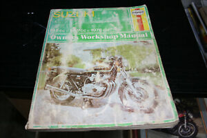 Haynes workshop manual for Suzuki fours GS750 and GS550.