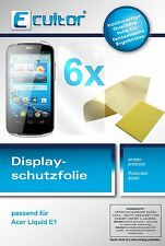 6x Acer Liquid E1 screen protector protection guard crystal clear