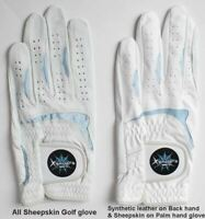 Men's Golf Gloves Cabretta Natural Sheepskin Pick size-hand-leather Durable B6+