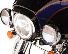 Ciro Gloss Black LED 7in Headlight Bezel Trim Ring for Harley FLH/T