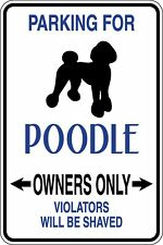 Poodle Owners Parking Funny Novelty Stickers JDM Euro Sma SM1-6