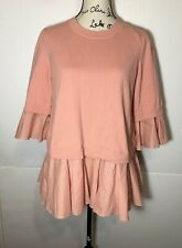 COS Sweater Flare Trumpet Sleeve Pullover Pink Size S
