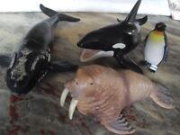 Schleich Nordkaper 14558 Orka Wale 14551 Meerestiere Killerwal Walross Pinguin