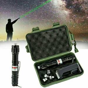 50Miles Green Laser Pointer Pen Rechargable Visible Beam Torches Flashlight LS