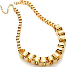 Large chunky chain link gold colour fashion costume jewellery necklace