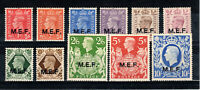 British Occupation of Italian Colonies 1943-47 GB MEF opt set MH