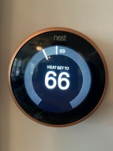 Google - Nest Learning Smart Thermostat - 3rd Generation - Copper