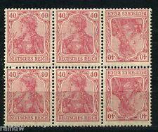 40 Pfg. Germania Blockstück Kehrdrucke poröses Papier Michel K 3 F Attest (S9129