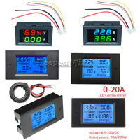 100A LCD Digital Voltage Watt Current Power Meter Ammeter Voltmeter AC/DC Volt