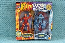 Limited Edition Toybiz Marvel Comics Fire & Ice - Human Torch & Iceman Figures