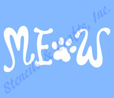 MEOW STENCIL PAW PAWS TEMPLATE WORD PATTERN CRAFT PAINT TEMPLATES STENCILS NEW