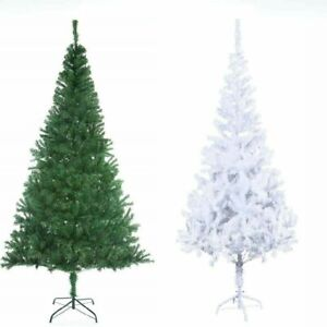 New 6FT ARTIFICIAL GREEN / WHITE TREE WITH 600 TIPS Christmas Tree Brand New !