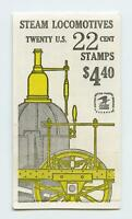 Dealer Dave Stamps 1987 BK163 22¢ STEAM LOCOMOTIVES BOOKLET, UNOPENED, (787)