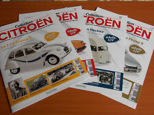 Lot 4 Fascicules Hachette Collection CITROEN 2cv Type H CX ID 19 Break NEUF
