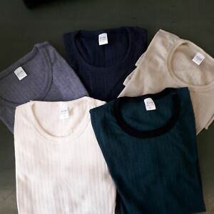 Unisex Kurzarm Unterhemd 67% Wolle | 33% Seide