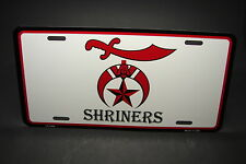SHRINERS METAL ALUMINUM CAR LICENSE PLATE TAG