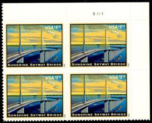 US Scott # 4649 Plate Block Of 4 MNH, Priority Mail, Sunshine Skyway Bridge