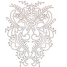 Rhinestone Transfer Hot fix Motif Fashion Design Beautiful tradition Pattern Red
