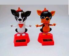 Solar Power Dancing Toys Set Of Two Puppy Chihuahua Bobble Head Dancing Toys