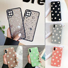 For Samsung Galaxy A12 S21 A52 S20 FE Cute Flower Silicone Case Shockproof Cover